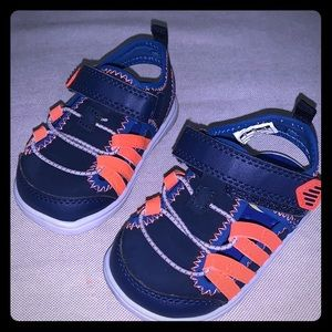 Carter'a Baby Boy Blue & Orange Strap Sandals